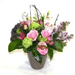 Mother's Day Lilac and Rose Flower Arrangement