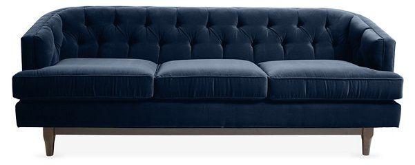 emma tufted sofa rustic style sleeper indigo velvet in 2018 for the home pinterest 2 595 00