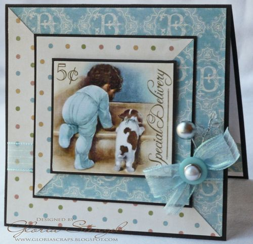 Precious Little Darlings card by @Gloria Mladineo Stengel! #graphic45 #cards