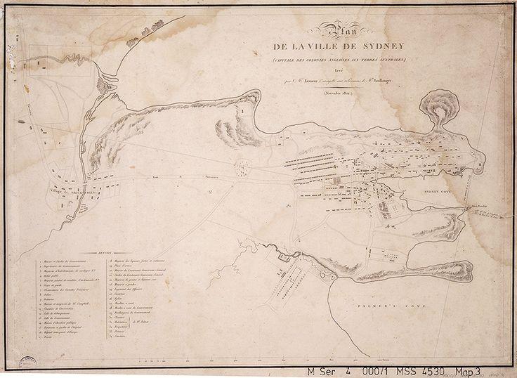 Plan de la ville de Sydney: (Capitale des colonies Anglaises aux Terres Australes) 1802 | The Dictionary of Sydney