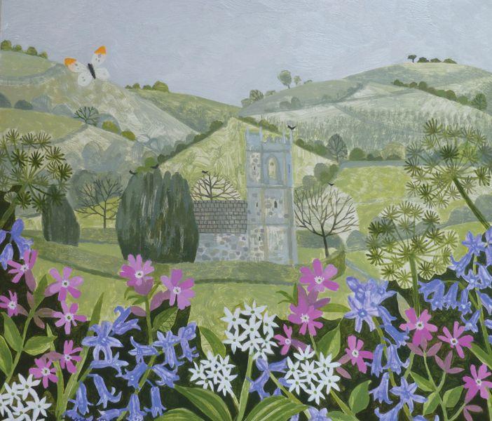 Batcombe Church - oil on card | Vanessa Bowman Art