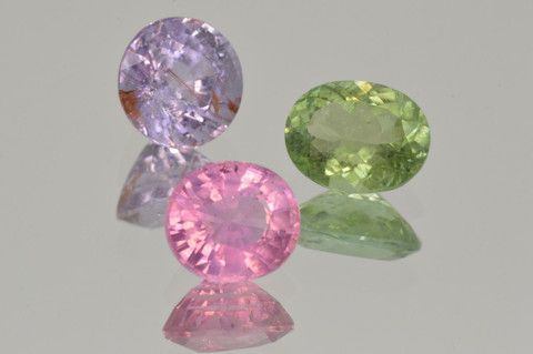 Set of Copper Bearing Tourmalines. Oval and Round Cut. 6.21 ct. total http://mdmayagems.com/collections/set-pairs/products/beautiful-set-of-rubellite-tourmaline-cabochon-oval-cabochon-cut-8-96-r-a-pretty-earrings-pear-and-oval-cut-9-20-ct-set