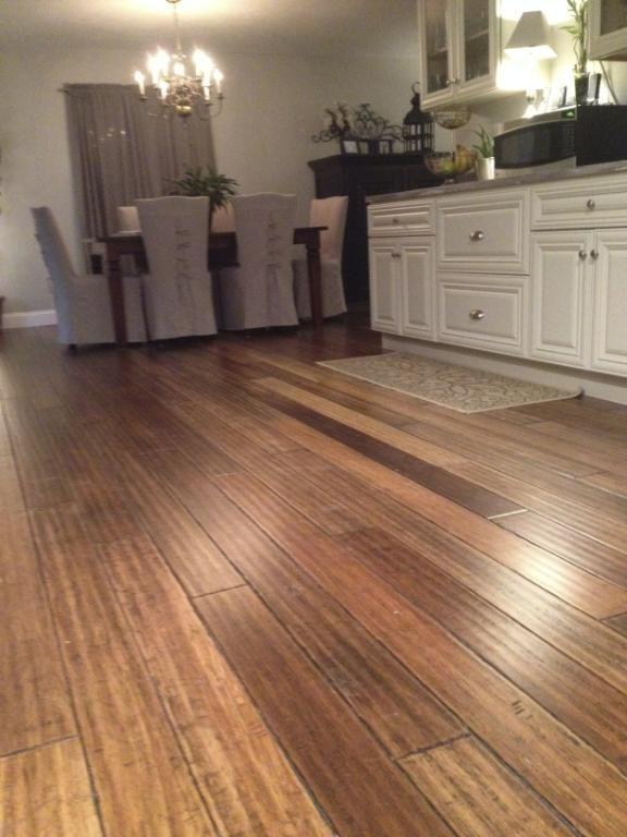 35 best wood floors images on pinterest wood flooring - Bamboo flooring in kitchen and bathroom ...