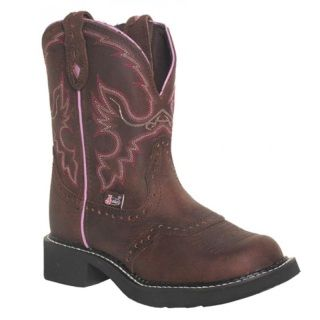 """Description: Aged Bark is an 8-inch tall Women's Justin Gypsy® Classic boot with a fashion round toe, a unit heel, and J-Flex Flexible Comfort System® insoles. They also have removable orthotic inserts. Upper: """" AGED BARK WITH DIAMOND CUT PULL STRAP Foot: GED BARK Toe: 29 Gypsy Fashion Round Toe Heel: Unit Unit Heel - One Piece Molded Heel & Outsole Insole: J-FLEX FLEXIBLE COMFORT SYSTEM® WITH REMOVABLE ORTHOTIC INSERT Outsole: BLACK RUBBER"""