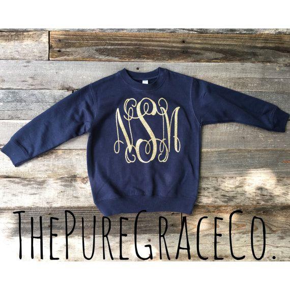 Monogram Sweat shirt by ThePUREGRACEco on Etsy