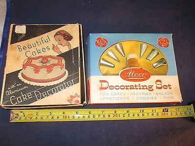 2 VINTAGE CAKE DECORATING EQUIPMENT SETS ATECO