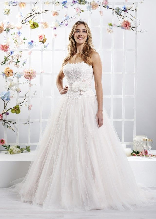 Ladybird Wedding Dress 416027 Ivory Salmon Zipper 01672