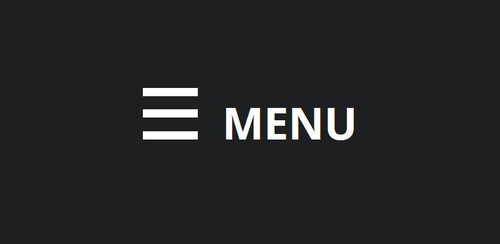 Hamburger or Hidden Menu  #Web #Design #Trend #webdesign