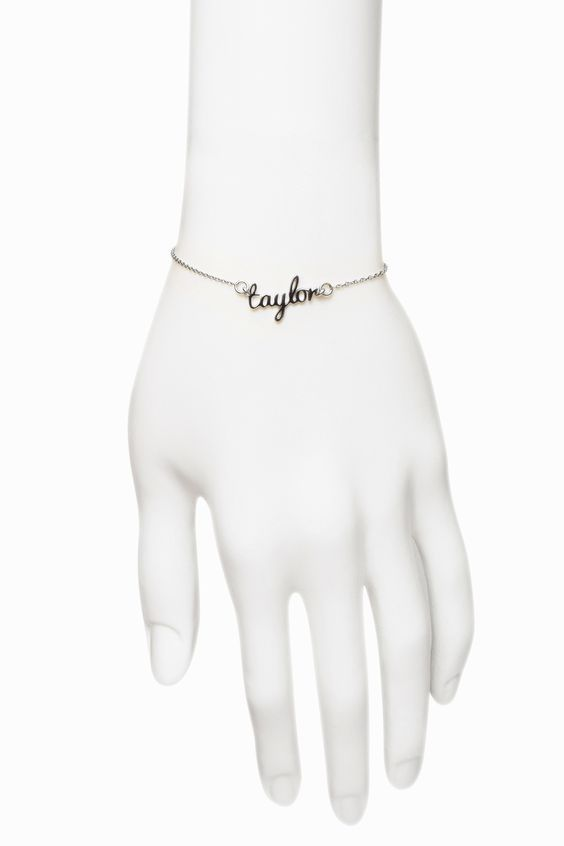 Freshfiber Hashtag Personal Name Bracelet Casted in Sterling Silver   From Freshfiber.com