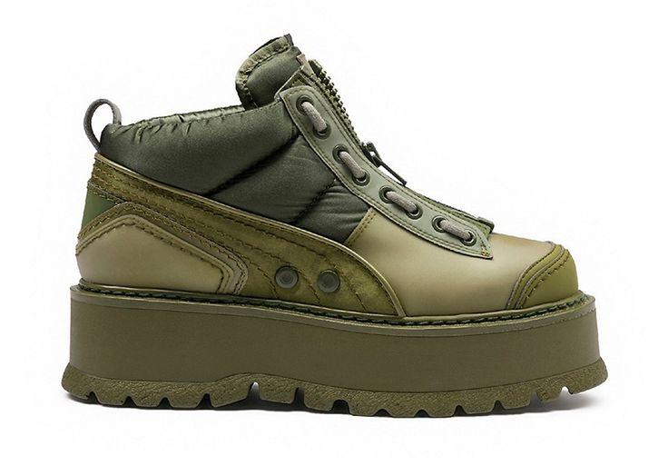 Fenty Puma by Rihanna Zipped Sneaker Boots in Cypress/Green $390