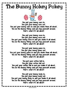 Freebie...Get kids up and moving for fun Easter song/poem.  Put in Poetry Binders!