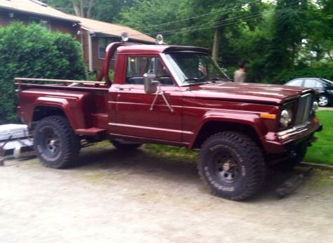 Lifted Trucks For Sale In Ohio >> 1973 Jeep J2000 with 1983 Honcho step side bed. | Jeep truck, Jeep pickup truck, Jeep pickup