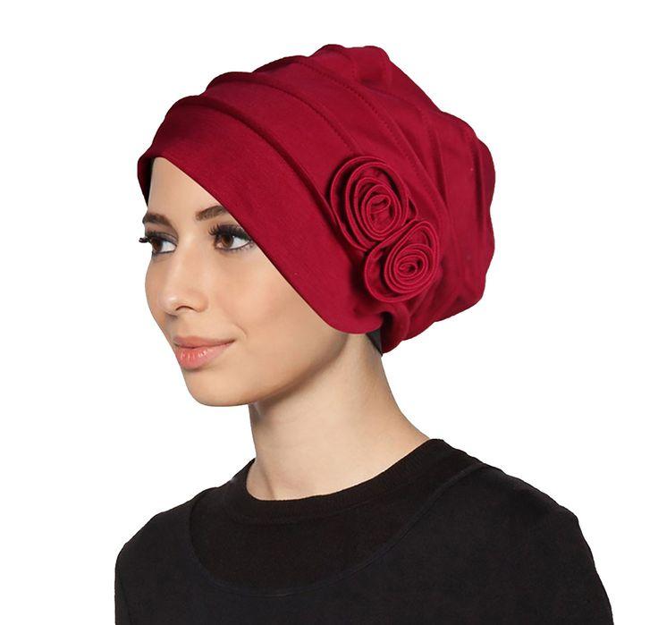 Islamic Flower Inner Hijab Caps Cotton Muslim Underscarf Hats for Women