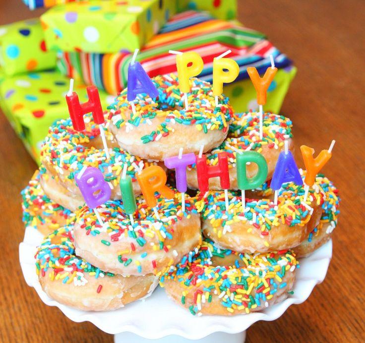 Donut Birthday Cake by Happy Go Lucky