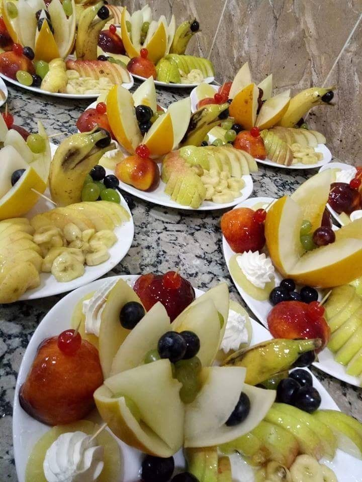 طرق تزيين سلطة الفواكه للأعراس و الافراح حصريا على صفحتي فقط Diy With Celine Food Recipes Desserts