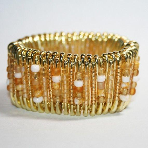 Starfish  Safety Pin Bracelet by MysticLily on Etsy, $20.00