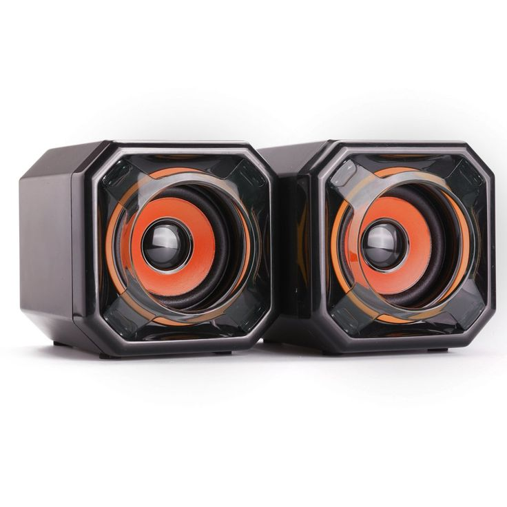 WESDAR Computer Speakers, 3.5mm USB Powered Subwoofer PC Speakers for Desktop Laptop Notebook, Pack of 2, BkOR-161