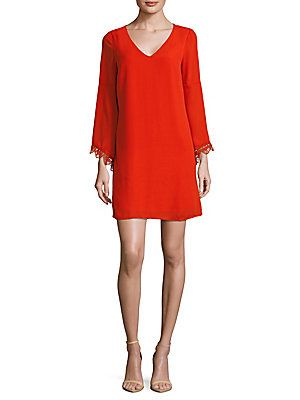 Catherine Catherine Malandrino Long-Sleeve Shift Dress
