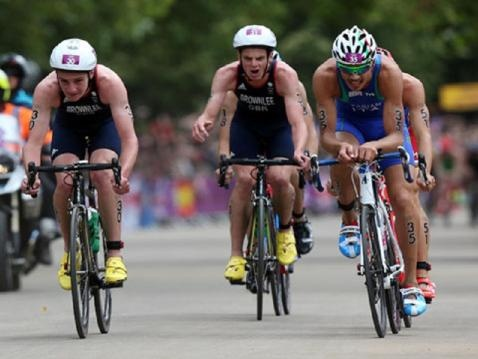 Jonny Brownlee (bronze) during the triathlon (The Telegraph and Argus)