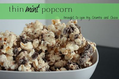Thin Mint Popcorn:  Hens Of The Woods, Thin Mint Cookies, Grasshopper Cookies, Thin Mints, Mint Popcorn, As A Junior, Girls Scouts Cookies,  Grifola Frondosa, Popcorn Recipes