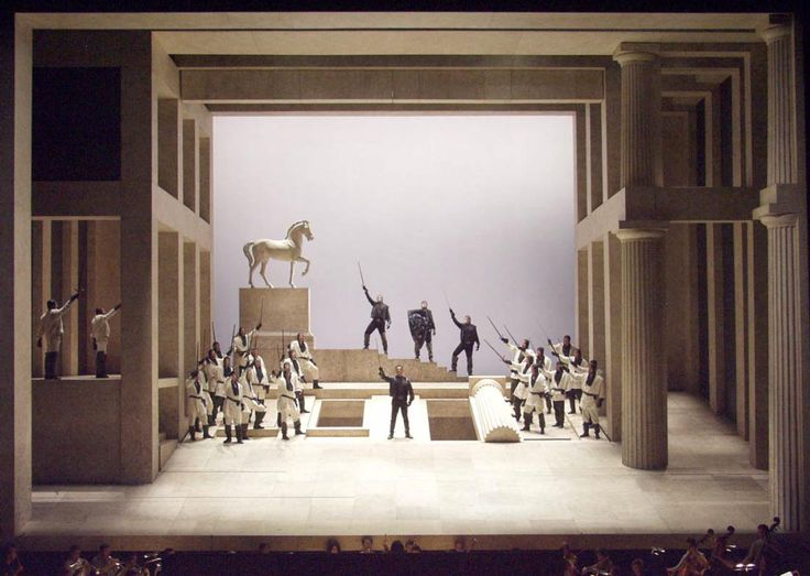 Tancredi from from Deutsche Oper Berlin. Production and designs by Pier Luigi Pizzi.