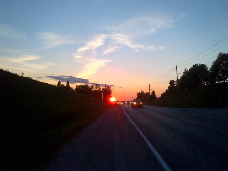 Beautiful Sunset in Owen Sound, Ontario  Canada Day 2012