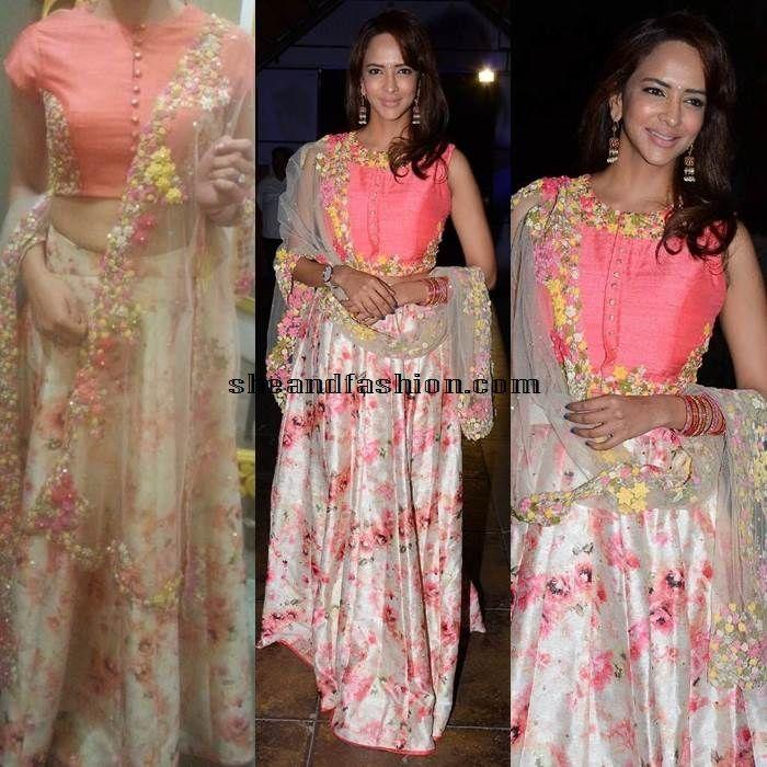 Lakshmi Manju Naalo Okkadu Movie Audio Launch Wearing pink designer skirt