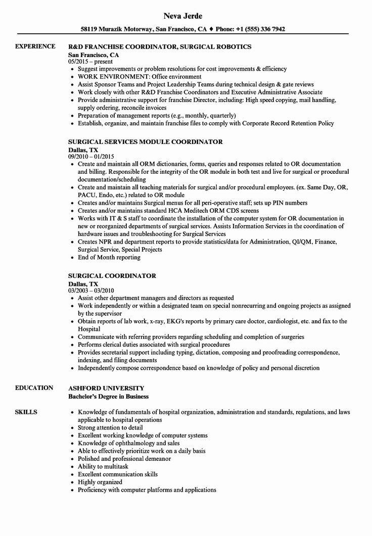 20 Patient Care Coordinator Job Description Resume in 2020