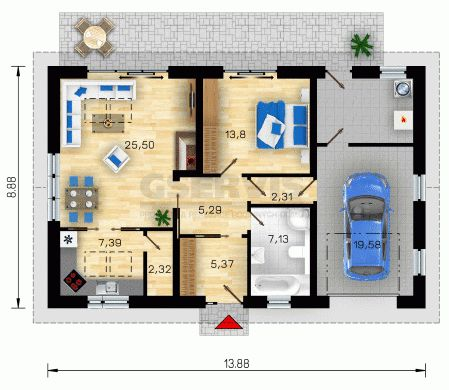 půdorys domu bungalov - Hledat Googlem