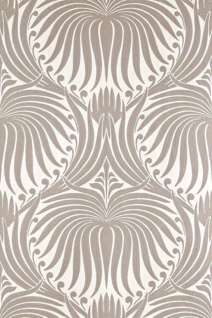 Lotus | Lotus BP 2011 | Farrow & Ball (we will do BP 2012 - design in Charleston Gray and background is Dimity)