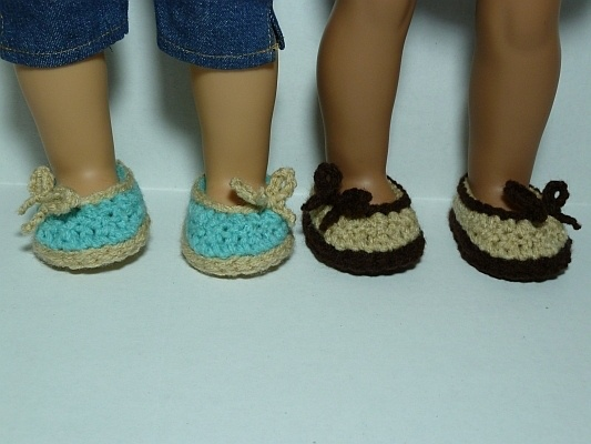 Simply Sweet Ballet Flats Crochet Pattern for American Girl Dolls