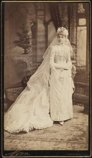 Museum of the City of New York - [Mrs. George B. McClellan (neé Georgiana Heckscher.)]  1889