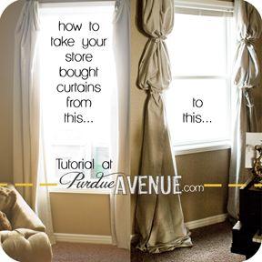 IKEA curtains turned Fabulous!  #purdueavenue