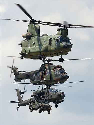 Royal Netherlands Air Force | Boeing CH-47D Chinook (D-106), Eurocopter AS-532/U2 Cougar Mk2  Boeing AH-64D Apache