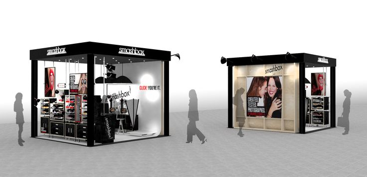 smashbox cosmetics kiosk - concept