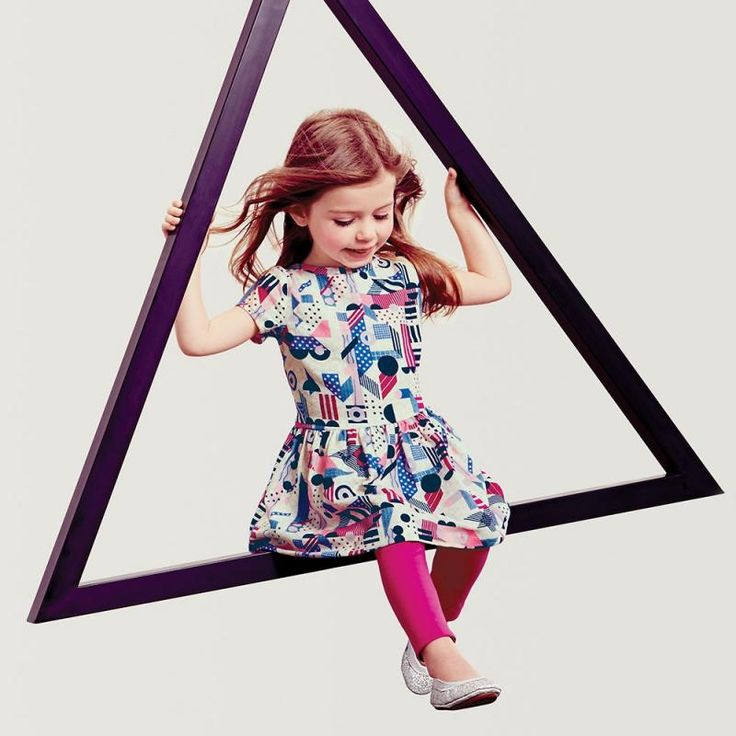 Tea Collection Lyrical Shapes dress for girls from their new Bauhaus collection