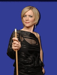 Allison Fisher - I LOVE to watch this woman play pool!  Wish I could play as well as she does