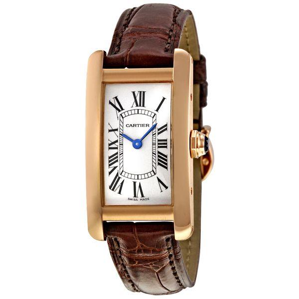 Cartier Tank Americaine 18kt Rose Gold Ladies Watch W2607456