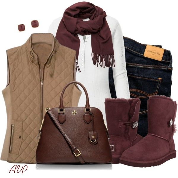 Boots for Fall - Burgundy Uggs