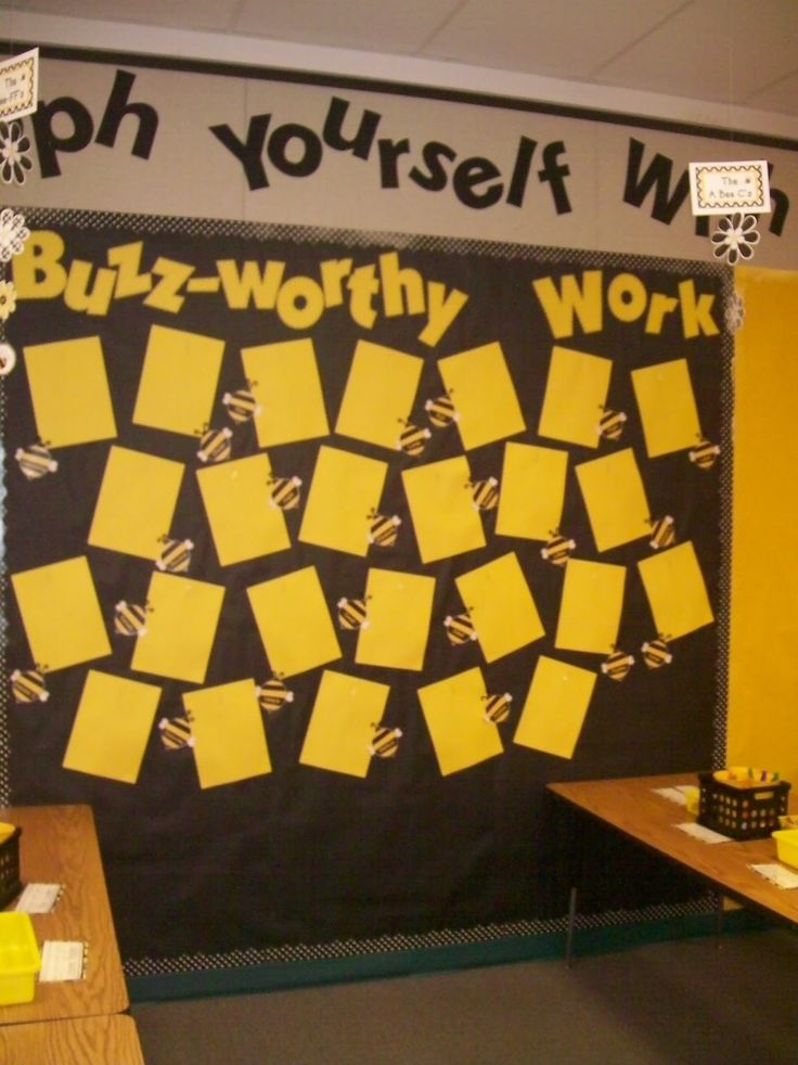 Bee Themed Classroom | This is my work display board. The bees have the students' names on ...