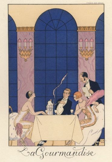 """La Gourmendise"" by G. Barbier from ""Falbalas & Fanfreluches"""