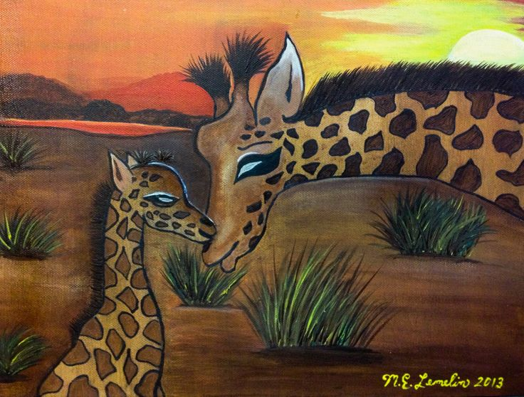 Giraffe Family Love!