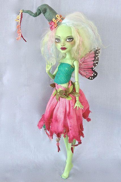 Fiore - Monster High repaint by Marina's art dolls, via Flickr
