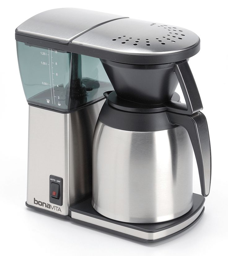 Bonavita Coffee Maker BV1800TH: The Bonavita brewer is one of only a handful of home brewers to be certified by the Specialty Coffee Association of America (SCAA), and at a very accessible price. #coffee #holiday #giftguide
