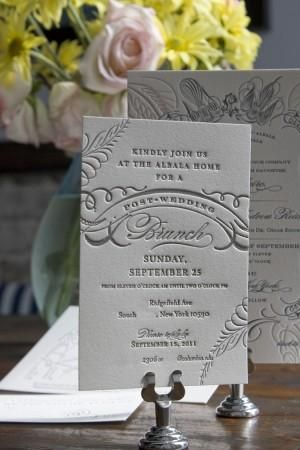 Letterpress Invitations  Letterpress invitations are elegant and beautiful, and really are a must for a formal wedding. They create an impression the way printed invitations simply can't.