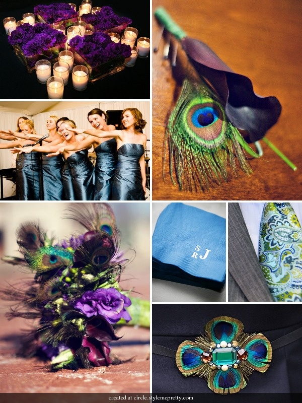 1000 Images About Wedding Theme Peacock On Pinterest