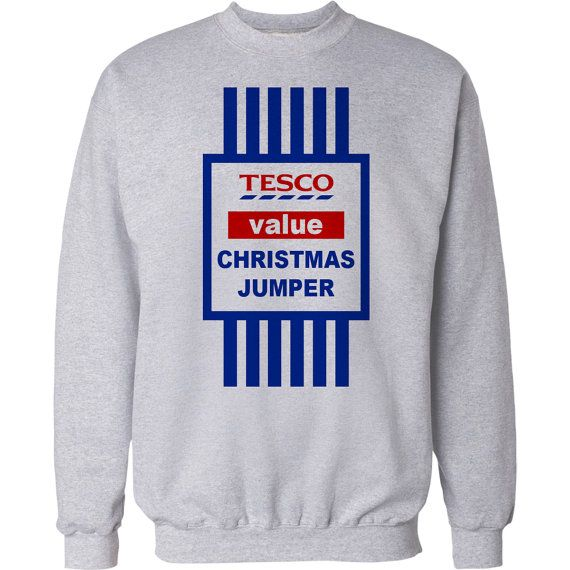 Christmas Jumper Gift Funny Tesco Value Xmas Sweater Mens And Ladies Present 2015 Santa Reindeer Elf Snowman Christmas Sweater