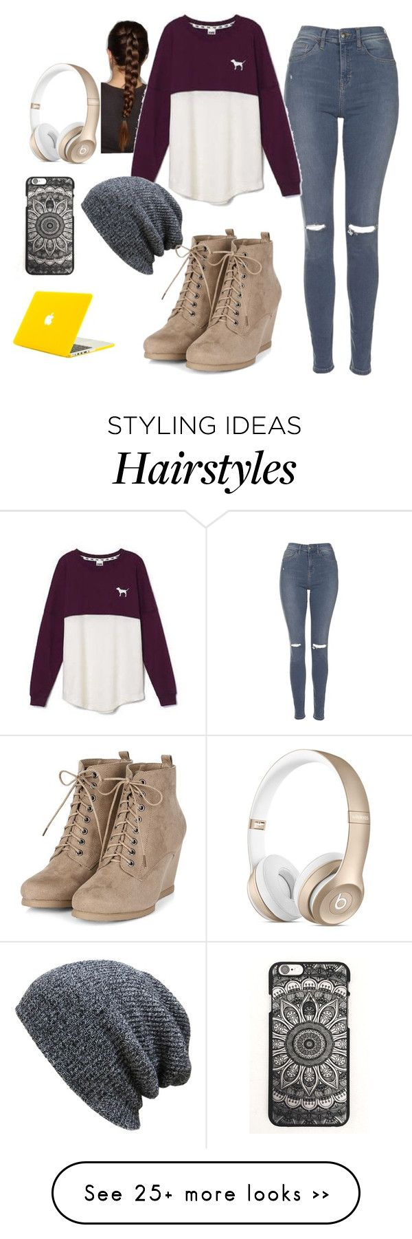 """untitled...."" by cupcakes369 on Polyvore featuring Topshop and Victoria's Secret"