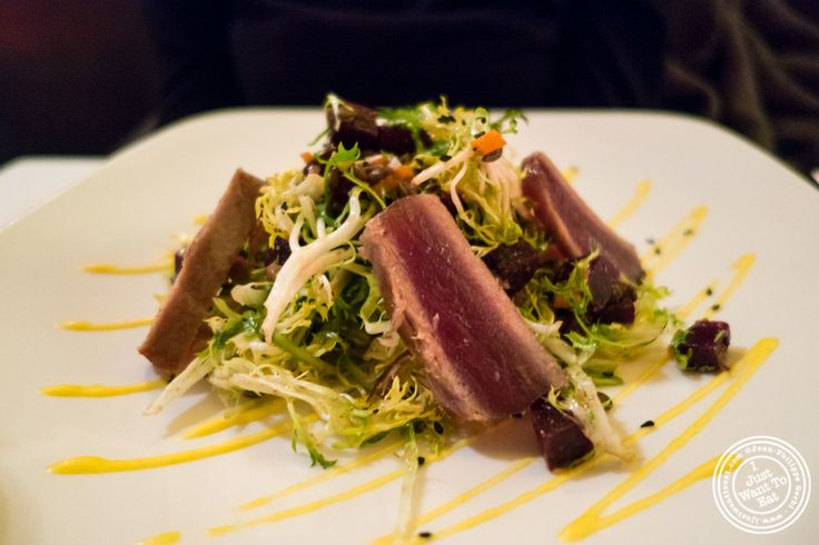 Seared tuna salad Escargots at Cercle Rouge, French Bistro in Tribeca, New York, NY