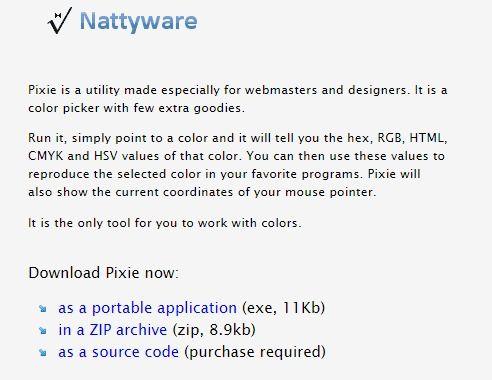 Colour Picker Tool - Pixie / Nattyware